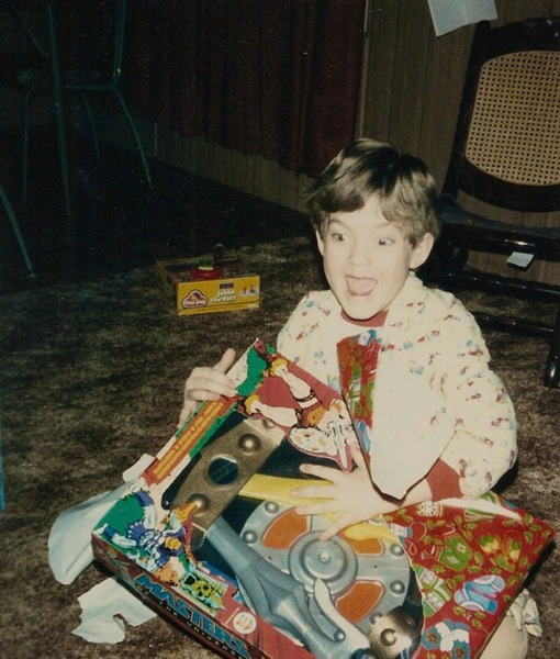 Josh receives He-Man's armor for Christmas, 1984