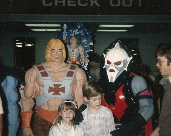 Josh and his sister meet He-Man, Skeletor, and Hordak at a toyshop