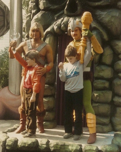 Josh and his childhood friend meet He-Man and Man-At-Arms at Universal Studios